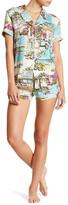 PJ Salvage St. Tropez Travels 2-Piece Pajama Set