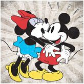 Artissimo Disney's Mickey Mouse & Minnie Mouse Kiss Canvas Wall Art