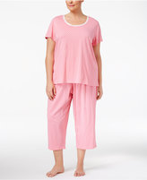 Charter Club Plus Size Printed Cotton Pajama Set, Only at Macy's