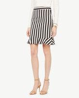 Ann Taylor Curvy Striped Flounce Skirt