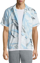 Rag & Bone Kingston Hawaiian-Print Short-Sleeve Shirt, Blue