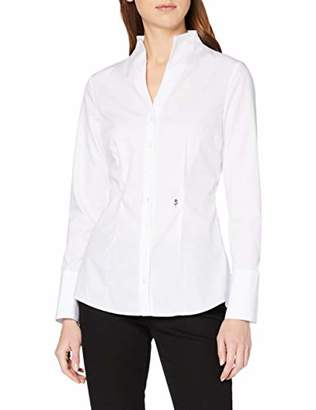 Seidensticker Women's CITY-BLUSE 1/1-LANG Slim Fit Long Sleeve Blouse,46