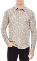 Sandro Love Floral Print Slim Fit Button-Down Shirt