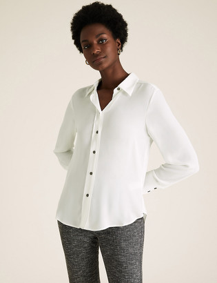 Marks and Spencer Collared Long Sleeve Shirt