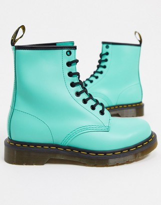 Dr. Martens 1460 leather flat ankle boots in peppermint