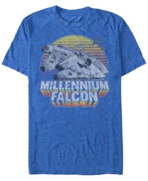 Star Wars Men's Classic Millennium Falcon Sunset Short Sleeve T-Shirt