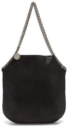 Stella McCartney New Falabella Large Faux-suede Tote Bag - Black