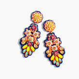 J.Crew Embroidered crystal earrings