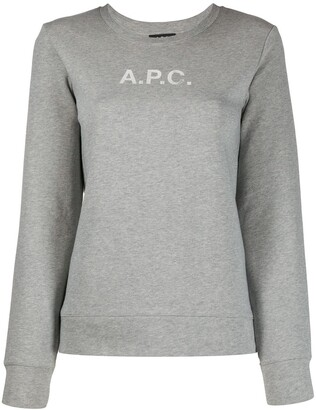 A.P.C. Logo-Print Crew Neck Sweatshirt