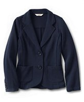 Classic Girls Double Knit Blazer-Evergreen