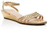 Kate Spade Valencia Metallic Braided Wedge Sandals - 100% Exclusive