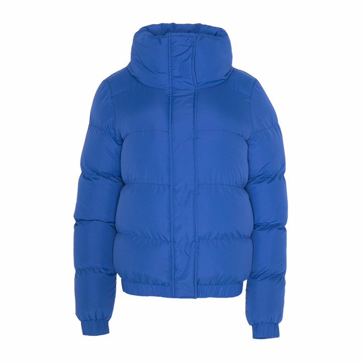 Thumbnail for your product : Brave Soul Ladies Short Puffer Jacket High Funnel Neck Winter Coat