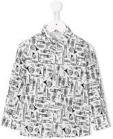 Dolce & Gabbana musical instrument print shirt - kids - Cotton/Spandex/Elastane - 24 mth