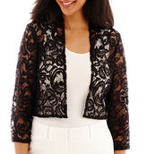 R & M Richards R&M Richards 3/4-Sleeve Lace Bolero Shrug