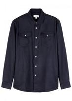 Soulland Tom Navy Felt Shirt