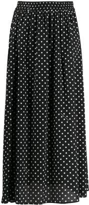 Moschino polka dot midi skirt
