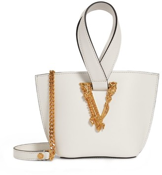 Versace Leather Virtus Top-Handle Bag