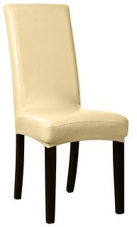 Unique Bargains Dining Chair Covers Faux PU Fabric Slipcovers