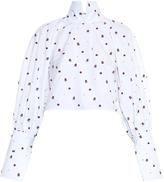 Ellery Regency high-neck fil coupé shirt