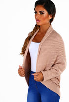 Pink Boutique Amanda Nude Knitted Batwing Cardigan