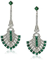 Ben-Amun Jewelry Emerald-Color and Clear Crystal Drop Earrings