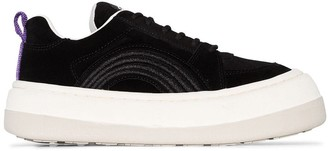 Eytys black Sonic chunky low-top suede sneakers