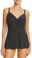 Miraclesuit Pin Point Dotted Tankini Top