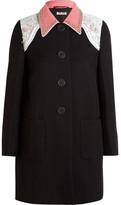 Miu Miu Embellished Cady Coat - Black