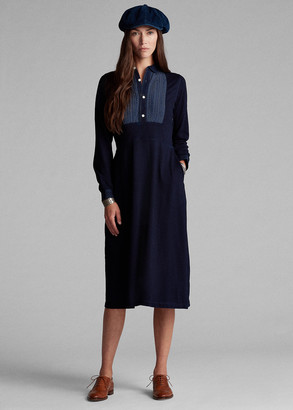Ralph Lauren Bib-Front Jersey Dress