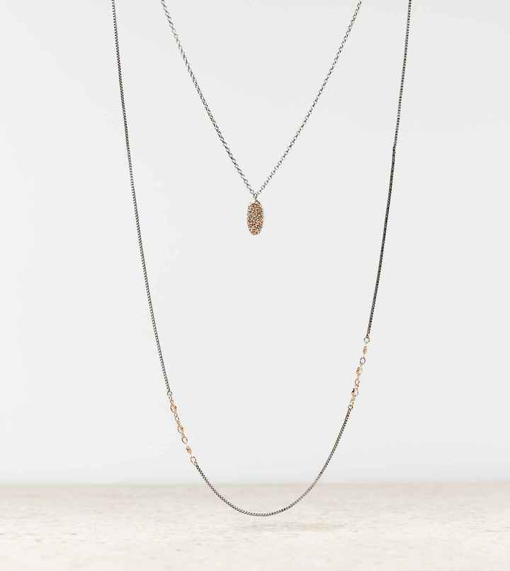American Eagle AEO Layered Chain Necklace
