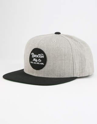 Brixton Wheeler Mens Snapback Hat