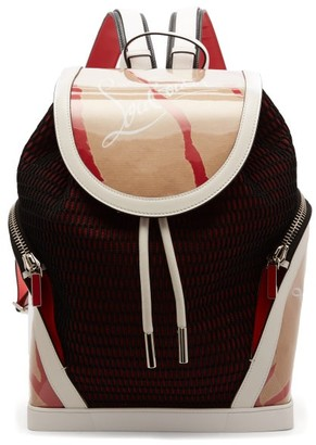 Christian Louboutin Kraft Explorafunk Chunky-knit Backpack - Beige Multi