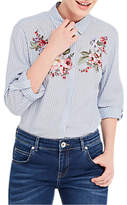 Oasis Chintz Embroidered Shirt, Multi/Blue