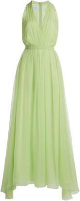 Giambattista Valli Silk Georgette V-Neck Dress