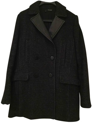 The Kooples Black Wool Coat for Women