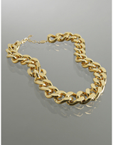 gold twisted chain link necklace