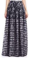 Sachin + Babi Mariko Floral & Stripe Overlay Skirt