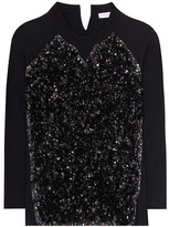 Sonia Rykiel Sequinned Cotton Sweatshirt