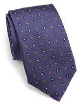 Eton Textured Paisley Silk Tie