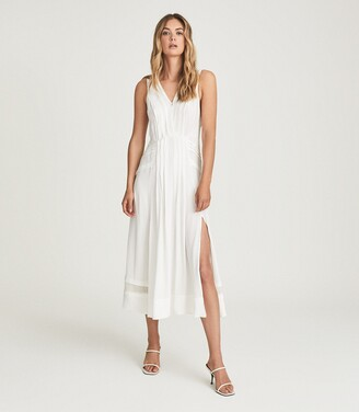 Reiss Marcella - Split Front Beach Dress in White