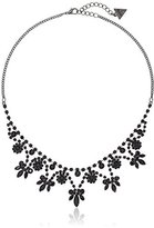 """GUESS Basic"""" Jet Dainty Floral Necklace, 16"""" + 2"""" Extender"""