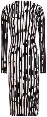 Emilio Pucci Printed Ribbed-knit Midi Dress