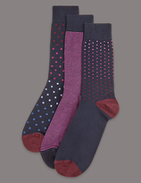Autograph 3 Pairs Of Modal Blend Socks