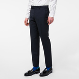 Paul Smith Men's Slim-Fit Navy Wool And Mohair-Blend Trousers