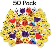 """Ivenf Pack of 50 5cm/2"""" mini Emoji Keychain Party Favors Pillows Set Party Supplies/Clawmachine Refill Prizes/Pinata Filler for Kids"""