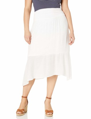 Amy Byer Women's Plus Size Hanky Hem Pull-On Skirt