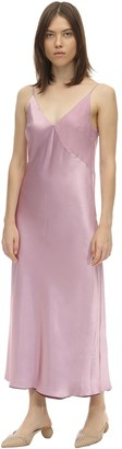 Lesyanebo Reversible Satin Midi Dress