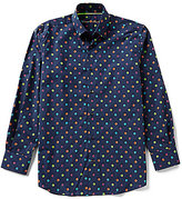 Visconti Big & Tall Mini-Floral Long-Sleeve Woven Shirt