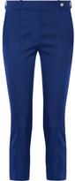 Mira Mikati Cropped Satin Slim-leg Pants - Blue