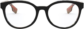 Burberry Be2315 Top Black On Vintage Check Glasses